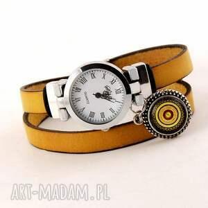 handmade zegarki zegarek - bransoletka, z zawieszką i zapięciem na klamrę