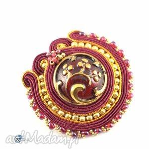ozdobna broszka z oramenetem - sutasz - broszka, brosza, przypinka, ornament, glamour