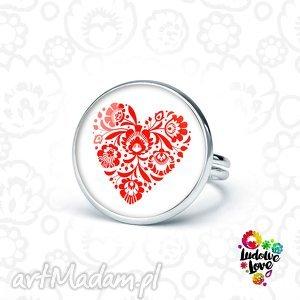 pierścionek folk love, folklor, etnicze, polskie, wzory, ludowe, miłość