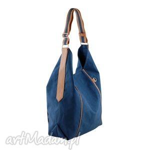 hand-made na ramię furia - torba worek - granatowa