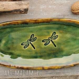 pod choinkę prezenty, ceramika ceramiczna patera c207, misa, półnisek, ważki