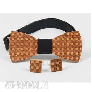 the bow ties zestaw #19, drewno, muszka, mahoń, oryginalne prezenty