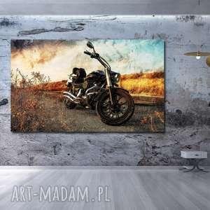 obraz motor 1 - 120x70cm na płótnie motocykl, obraz, motor
