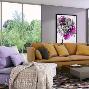 obraz drukowany na płotnie z kwiat, roślina, róża w formacie 70x100cm