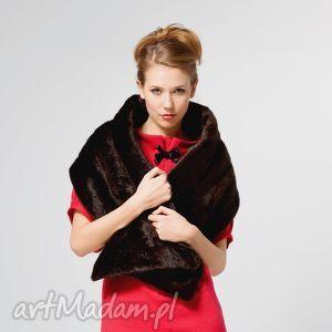 fur scarf brown - norki, futro, szal, etola, zima, moda