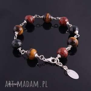 Brązowa bransoletka - ręcznie wykonane