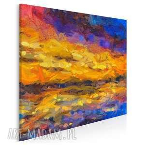 obraz na płótnie - abstrakcja kolorowy sztuka w kwadracie 80x80 cm (91302)