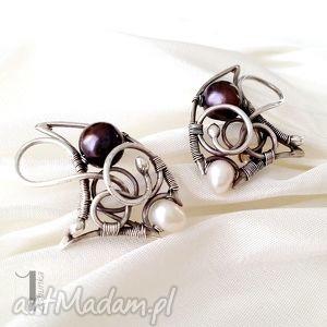 little black pearl - kolczyki z perłami - perły ślub, kobiece