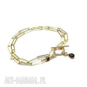 ręczne wykonanie naszyjniki chain / garnet/ vol. 8 - naszyjnik