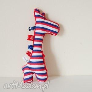 handmade zabawki żyrafka sensorek grzechotka - idealna dla niemowlaka