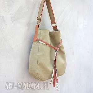 Simply bag - duża torba worek oliwka na ramię incat worek