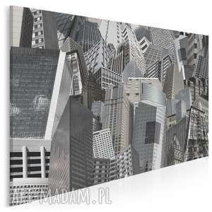 obraz na płótnie - wieżowce beton 120x80 cm 60501, wieżowce, miasto, okna