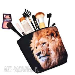 kosmetyczki kosmetyczka lew, saszetka wodoodporna z lwem,duża