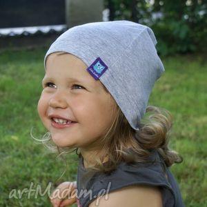 Szara czapka, bawełniana, 2 rozmiary, dresówka, dziecko, niemowlę, czapa