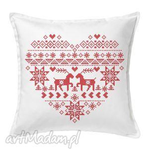 poduszka świąteczna folkowa, święta, poduszka, prezent, mikołaj, dekoracja