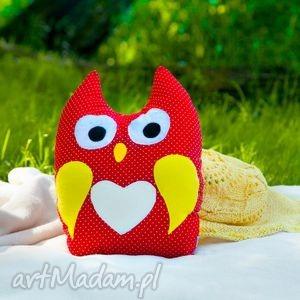 handmade zabawki poduszka sowa kropeczka