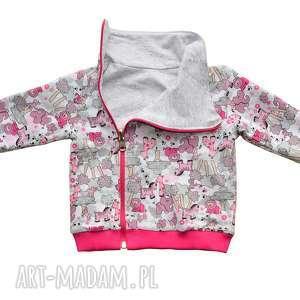 SAFARI zwierzątka, dwustronna bluza, bluza dla dziewczynki, ciepła bawełniana