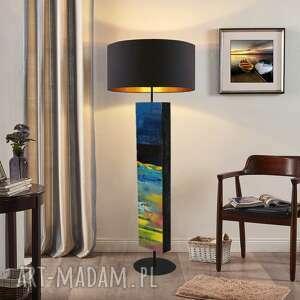 rozlane niebo - modna lampa podłogowa w stylu eklektycznym, nowoczesna dekoracja