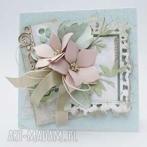 pastelowa kartka - w pudełku, ślub, pamiątka, życzenia, rocznica, urodziny