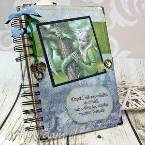Pamiętnik/ Notatnik- elfy i smoki, notatnik, pamiętnik, elfy, sekretnik