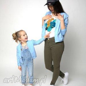 bomberka błękitna dziecięca, bomberka, dziecko, dzianina