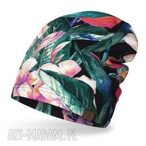 czapka cienka lekka do biegania bawełniana, bawełna, dresówka, print, jogging