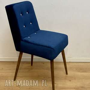 krzesło typ-1300 słupskie fabryki mebli, patyczak granatowy, krzesło, prl