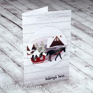 hand-made pomysł na święta prezent %więta w górach... karteczka na życzenia