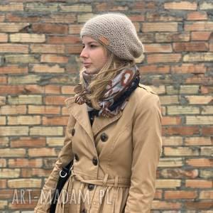 wiosenna czapka kid mohair & alpaca, beanie, alpaka, na-drutach,