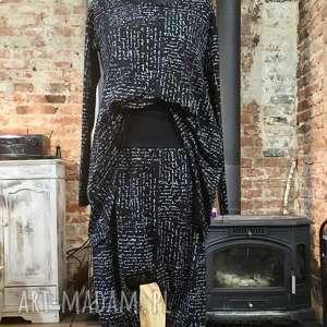 Spacer bulwarem-komplet, komplet, bawełniany, wymyślny, elegancki, efektowny