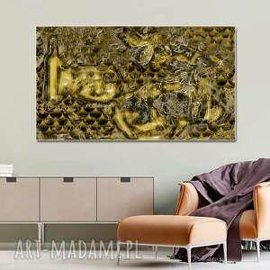 złota abstrakcja butelka 100 x 60 egancka dekoracja w stylu glamour