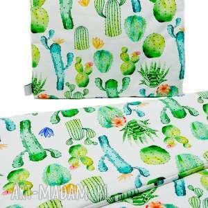pościel z wypełnieniem s kaktusy - pościel, dziecko, poduszka, kołderka