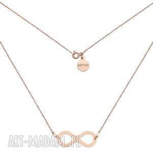 Naszyjnik z dużą nieskończonością różowego złota naszyjniki