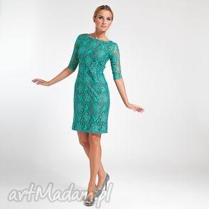 ręcznie wykonane sukienki ramona - sukienka zielona