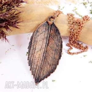 ViviArt: liść róży - wisior miedziany, liść, miedź, prezent, prawdziwy