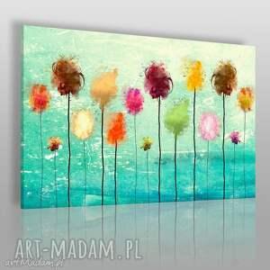 obraz na płótnie - abstrakcja kolorowy 120x80 cm 25401, kolorowy, nowoczesny, wzór