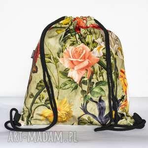 unikalny, kwiatowy, kwiaty, worek, workoplecak, łączka