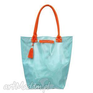 torba neon mint orange, torba, xxl, niebieski, błękit, turkus, świąteczny prezent
