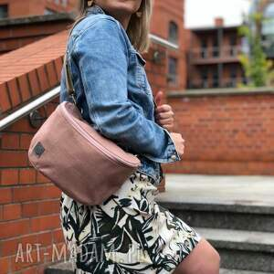 torebko/nerka różowa maya, torebka, nerka, torebko nerka na ramię