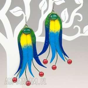 Prezent Miedziane kolczyki inspirowane Kaszubami , kolczyki, kolorowe, kaszubskie