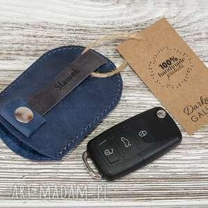 skórzany brelok etui na kluczyki samochodowe, klucze, skórzane