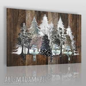obraz na płótnie - drewno deski natura drzewa - 120x80 cm 82201 - drewno, deski