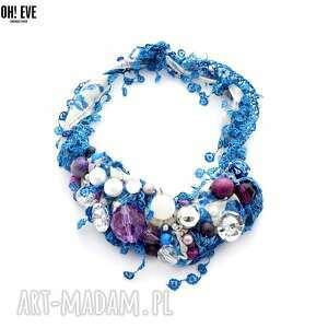 ocean view naszyjnik handmade - naszyjnik, niebieski, kolorowy, fioletowy