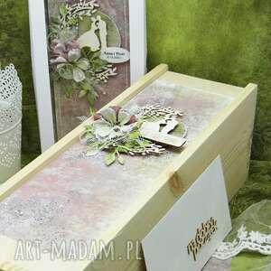 komplet ślubny kartka pudełko na wino koperta 10, ślub, ślubna, skrzynka