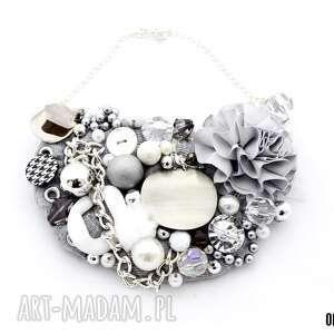silver rocket naszyjnik handmade - naszyjnik, szary, srebrny, popiel