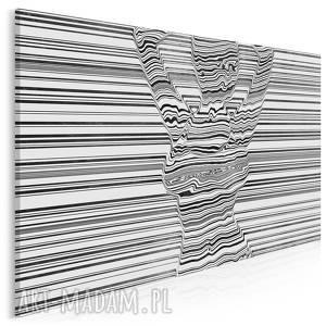 obraz na płótnie - kobieta linie akt czarno-biaŁy 120x80 cm 93501, kobieta