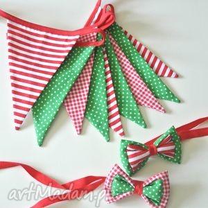dla dziecka zestaw girlanda i 2 muszki, dekoracja świąteczna lub rekwizyt
