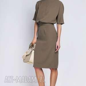 Sukienka, SUK123 khaki, sukienka, dopasowana, sexy, kobieca, casual, elegancka