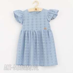 Sukienka z haftowanej bawelny , falbanki, letnia, bawelniana, zwiewna, haftowana