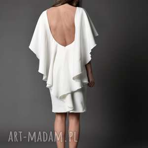 Koktajlowa sukienka z głębokim dekoltem na plecach - IMAAN, sukienka, dekolt